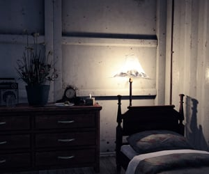 bed, bedroom, and bunker image