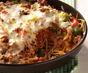 casserole, cheese, and cheesy image