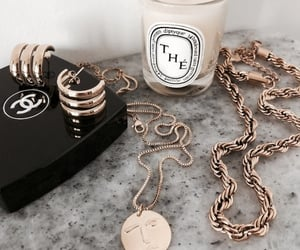 beauty, chanel, and golden image
