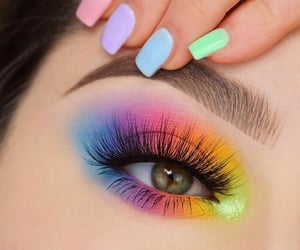 girls, rainboweyes, and girly image