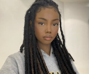 beautiful, black girl, and hair image