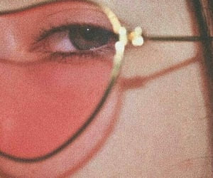 aesthetic, pink, and glasses image