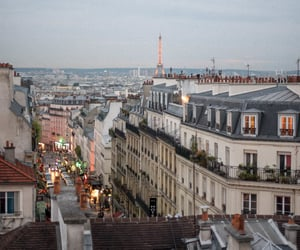 architecture, city, and eiffel tower image