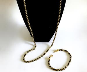 etsy, gold and black, and trifari tm image