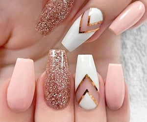 nails, pink, and nailsart image
