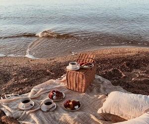 picnic, sea, and summer image