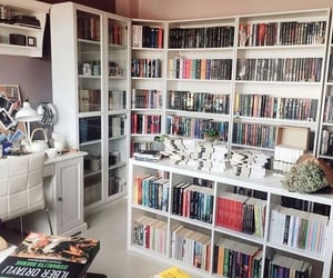 books, room, and closet image