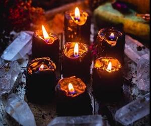 candles, dark, and magic image