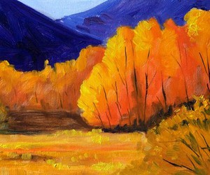 autumn, landscape, and Oil Painting image