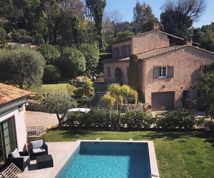 pool, garden, and home image