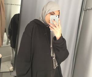 aesthetic, hijab, and hoodie image