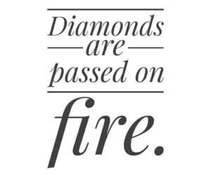 diamonds, fire, and life image