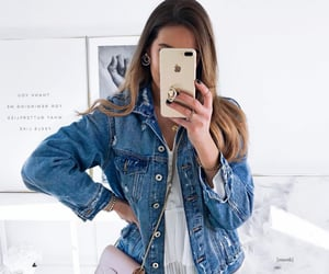 beautiful girl, denim, and denim jacket image
