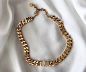 fashion, necklace, and gold image