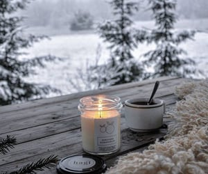 winter, snow, and candle image