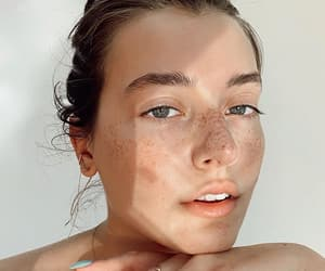 beauty, freckles, and girl image