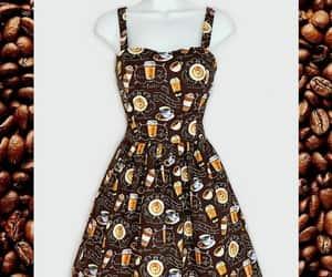 brown dress, fashionable, and handmade image