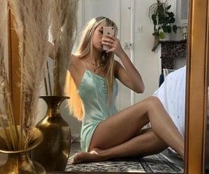 aesthetic, selfie, and beige image