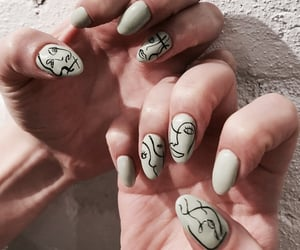 nails, nail art, and pretty image