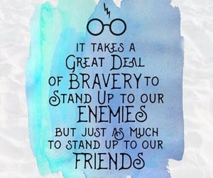 brave, courage, and harry potter image
