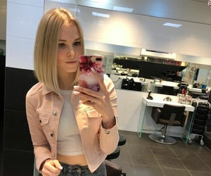 blonde, new style, and haircut image