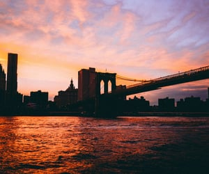new york, sky, and travel image