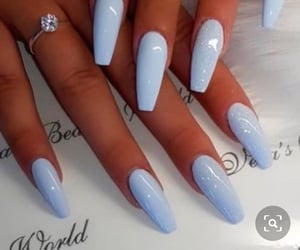 nails, blue nails, and blue image