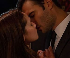 couple, kissing, and movie image