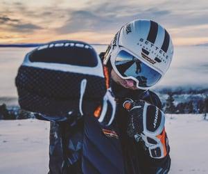 alpine, skier, and Skiing image
