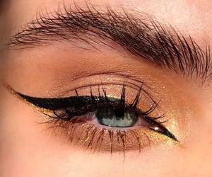 beauty, eyeliner, and fashion image