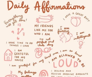 self love, affirmation, and self care image