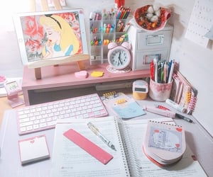 accessories, alice, and desk image