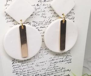 earrings, etsy, and dangle earrings image