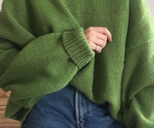 fashion, sweater, and green image