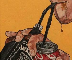 jack daniels, drink, and coca cola image