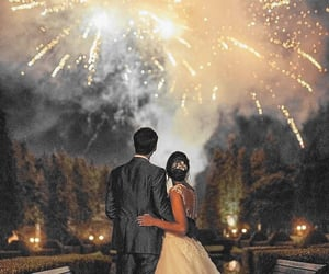bride, double, and firework image