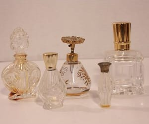 perfume, vintage, and gold image