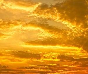 sky, yellow, and aesthetic image