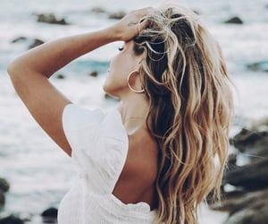aesthetic, beach, and blonde image