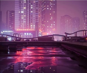 cityscape, grunge, and pink image