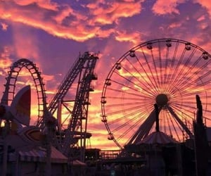 ride and sunset image