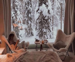 cozy, photography, and snowy image