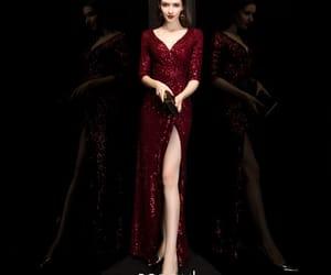 long dress, sequin dress, and mermaid dress image