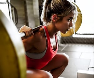 fit, gym, and squat image