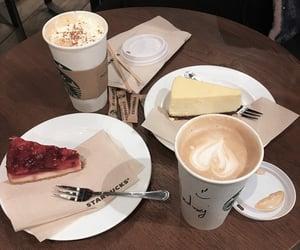 caffeine, cake, and cappuccino image