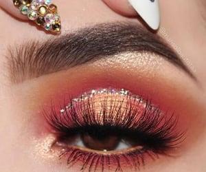 beauty, eye, and glitter image