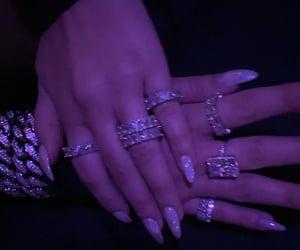bracelet, fashion, and long nails image