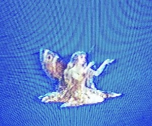 angel and blue image