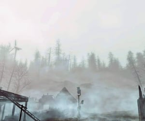 fallout, forest, and ruins image