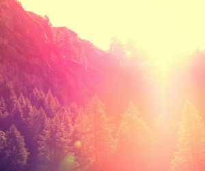mountains, photography, and pink image